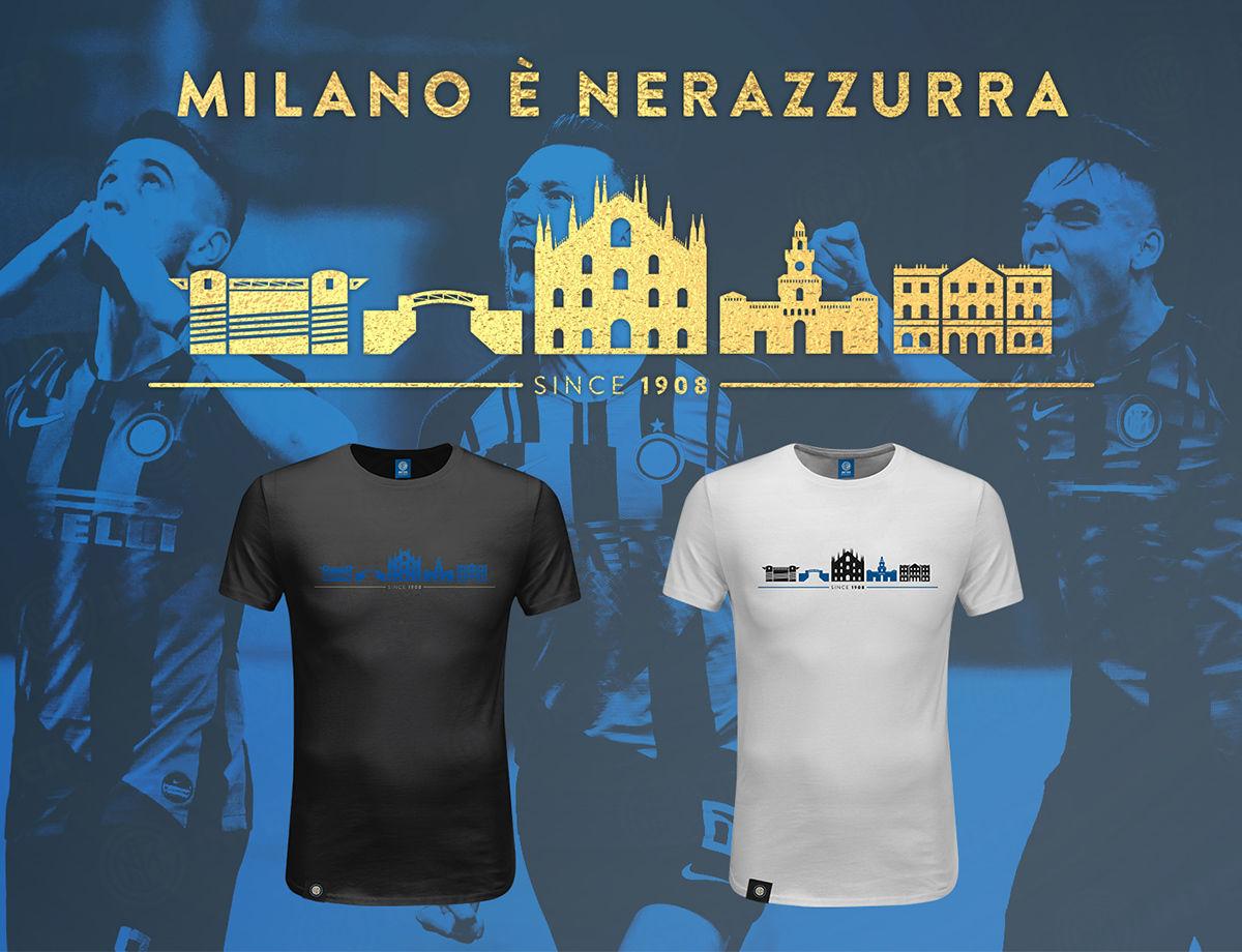 MILANO È NERAZZURRA: scopri l'esclusiva t-shirt Skyline Milano all'Inter Corner in Annex Rinascente