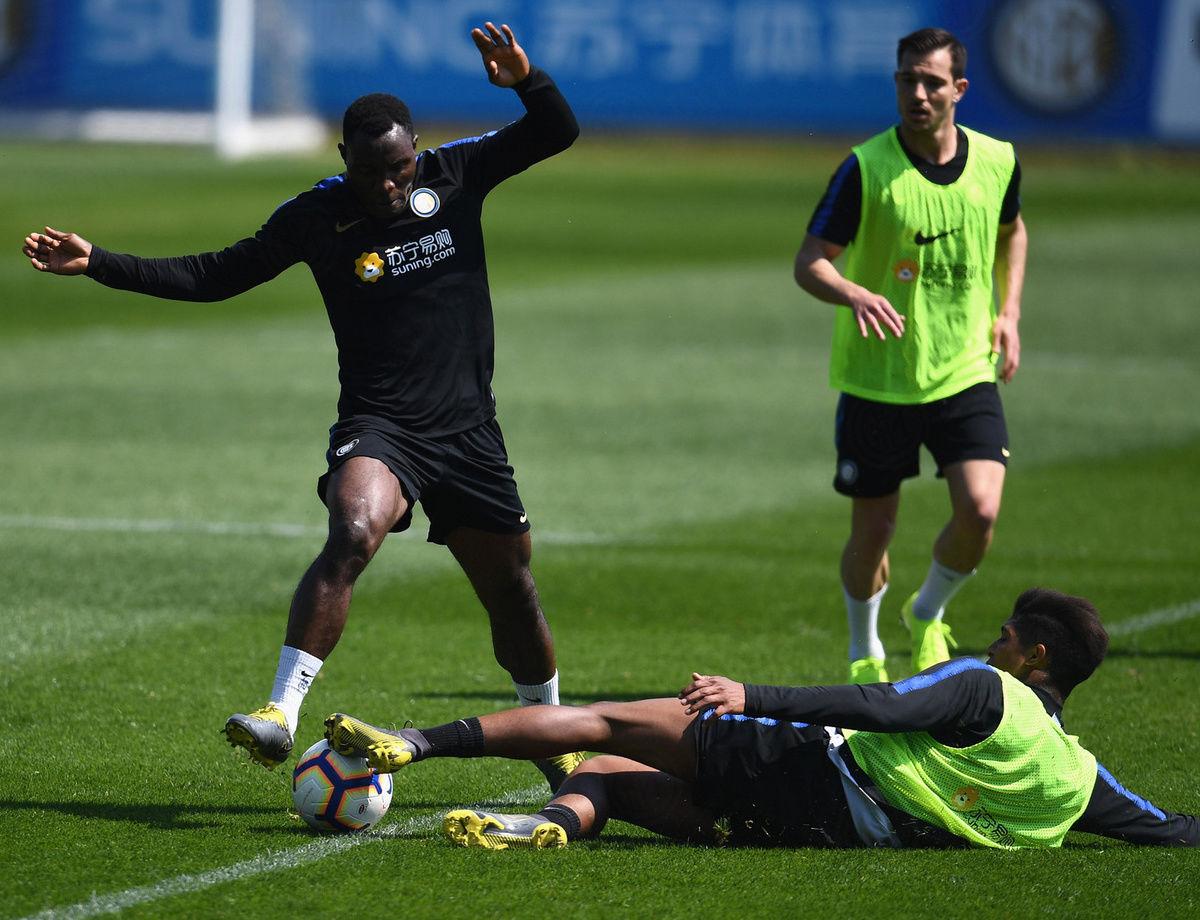 Entrenamiento de cara al Inter vs. Roma