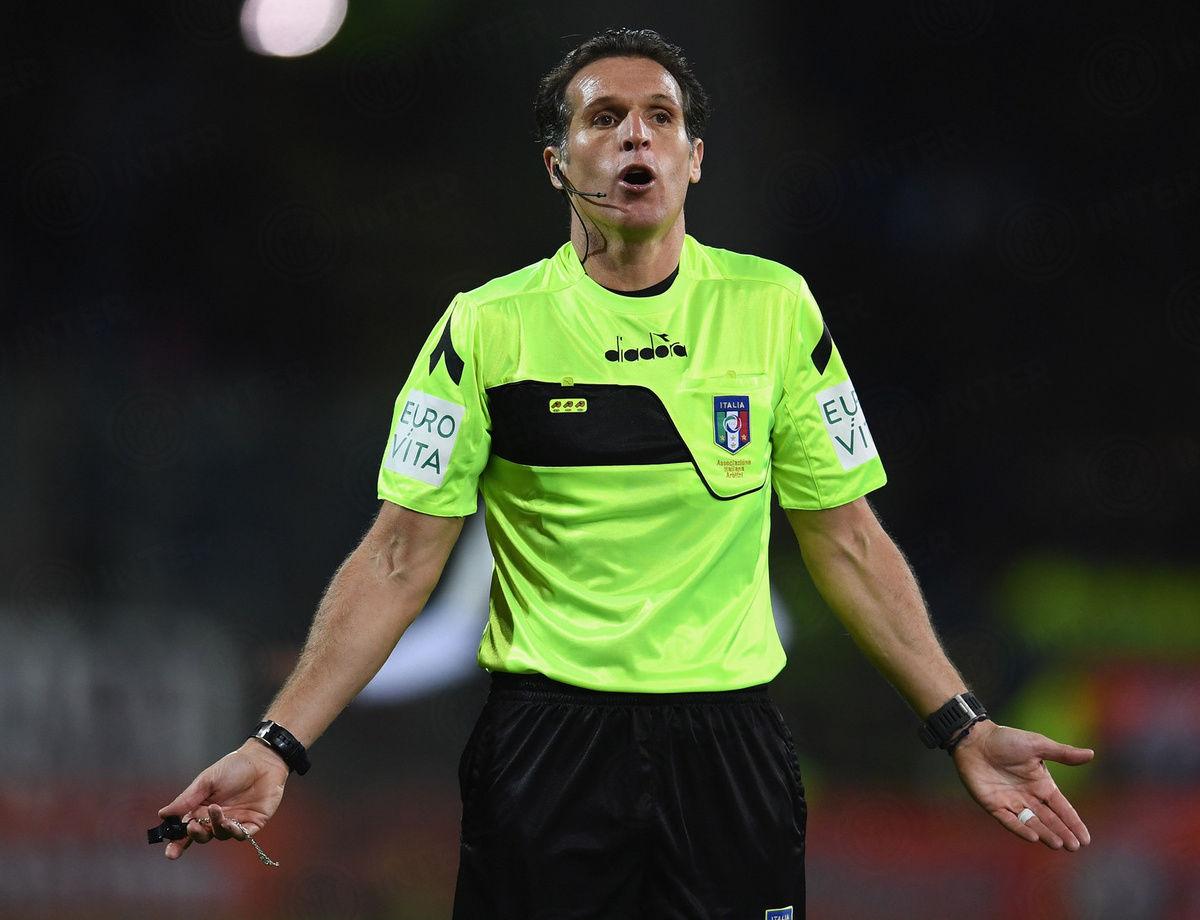 班蒂将执法国际米兰vs恩波利的比赛