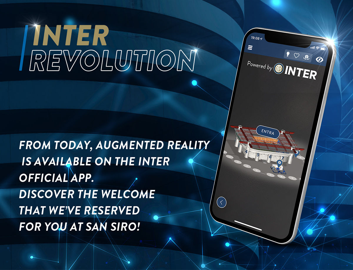 Augmented reality at the centre of the Inter Official App
