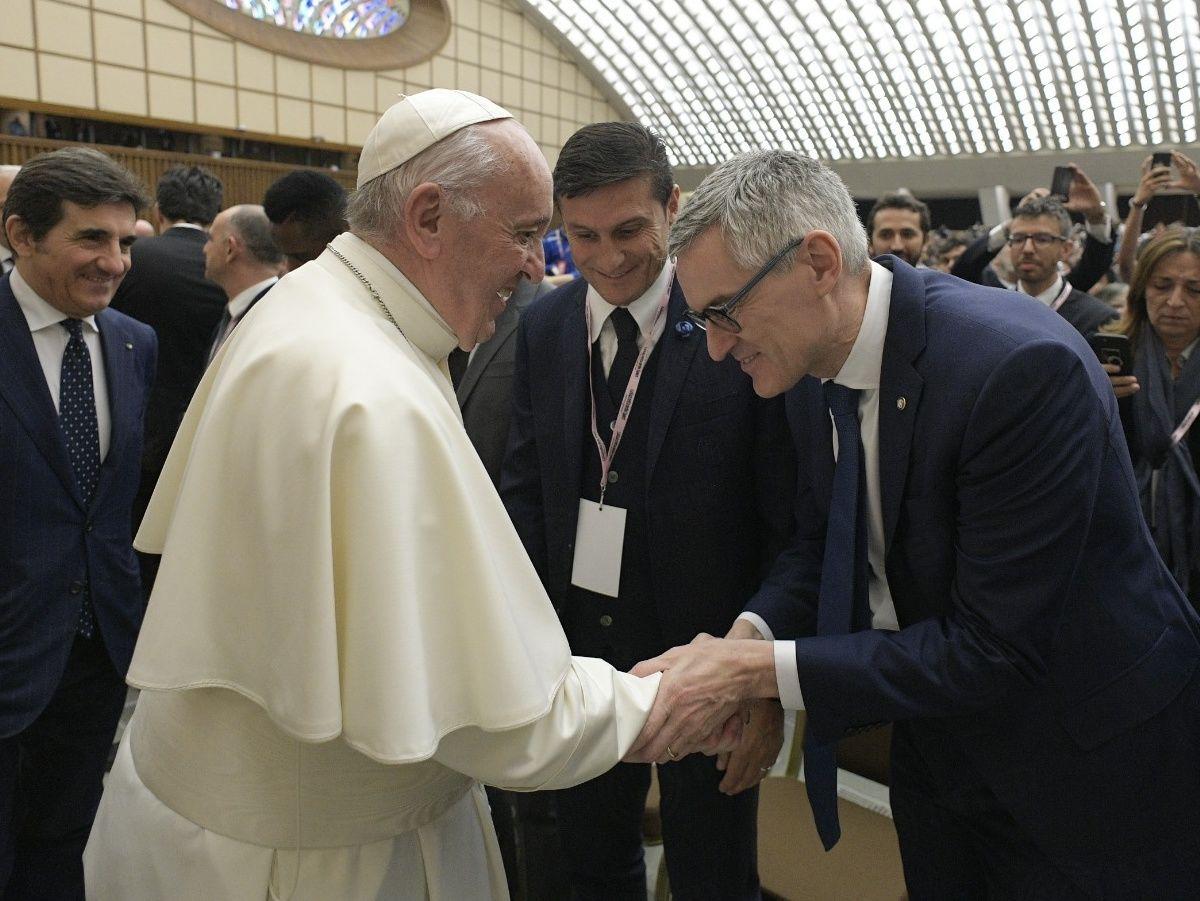 El fútbol que amamos: el Inter en el Vaticano con la campaña BUU