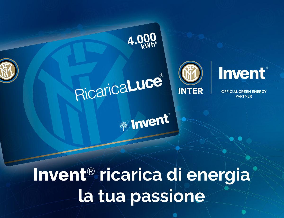 FC Internazionale Milano e Invent insieme: nasce RicaricaLuce® Inter