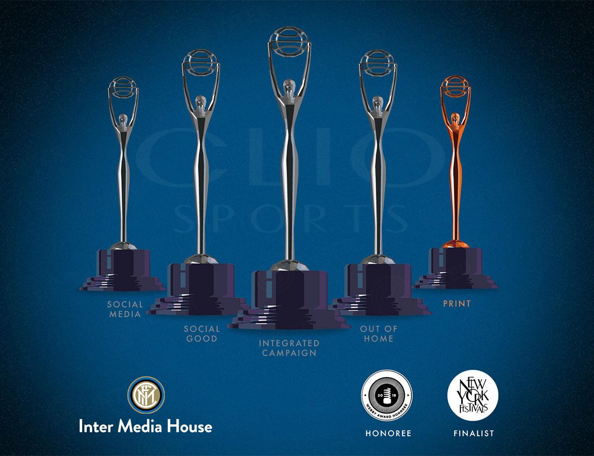 Clio Sports, New York Festivals e Webby Awards: premi e menzioni per Inter Media House