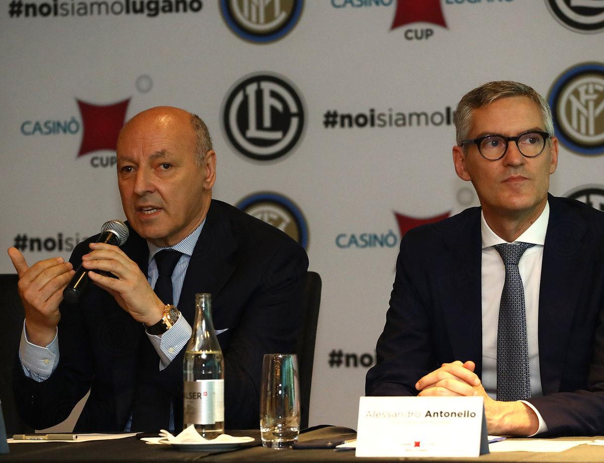 Inter's pre-season in Lugano: Comments from Antonello and Marotta