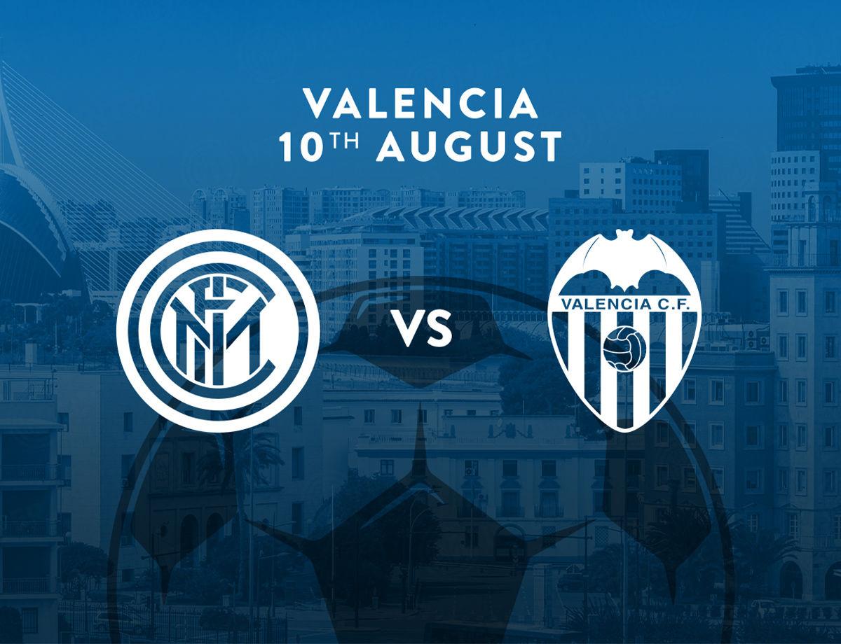 国际米兰将在8月10日的柑橘杯比赛中对阵瓦伦西亚
