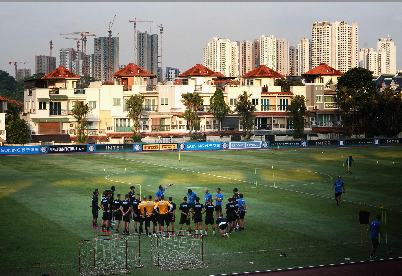 #InterOnTour, il secondo allenamento della squadra a Singapore