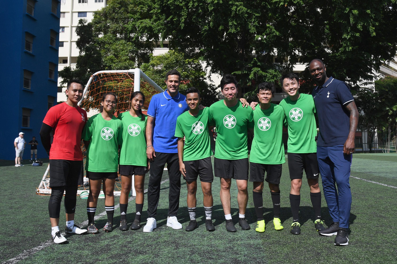ICC 2019, el Inter y Julio Cesar con jóvenes en Singapur
