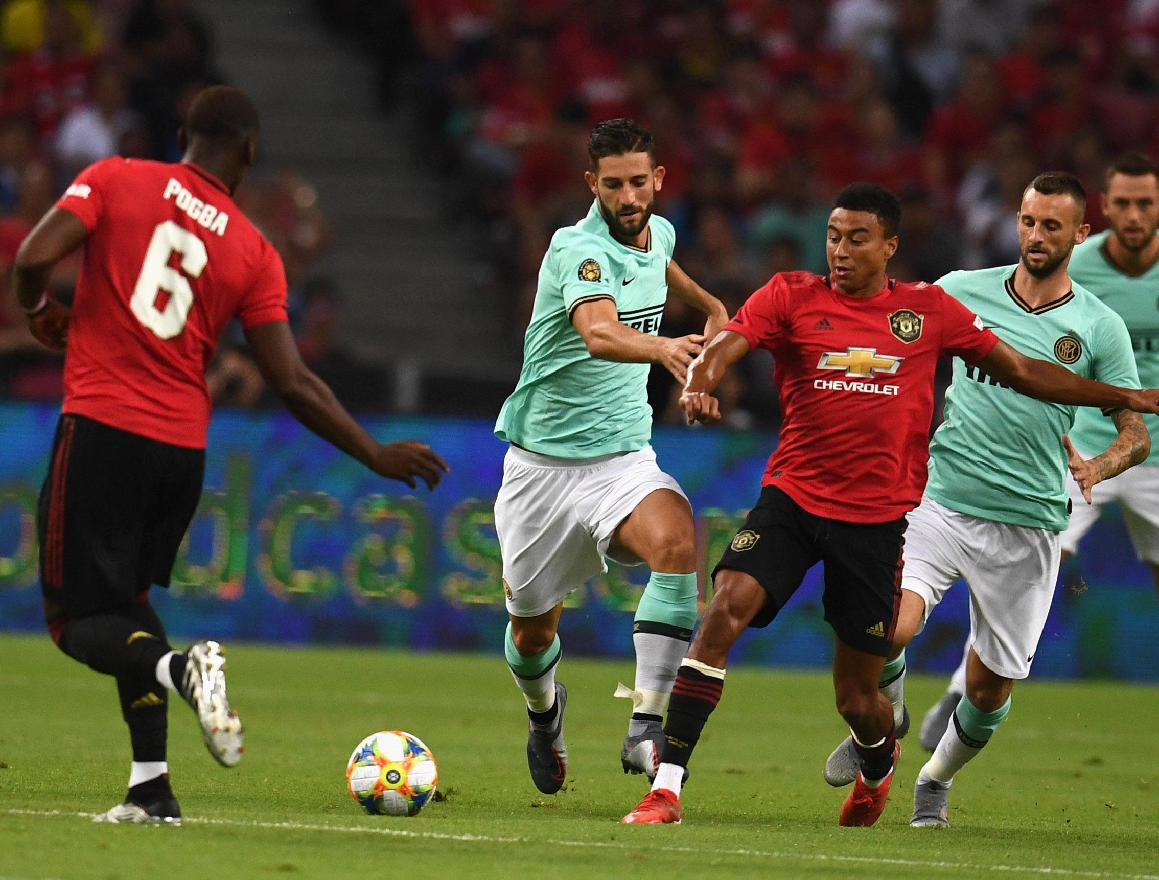 2019国际冠军杯,曼彻斯特联VS国际米兰的比赛现场图集