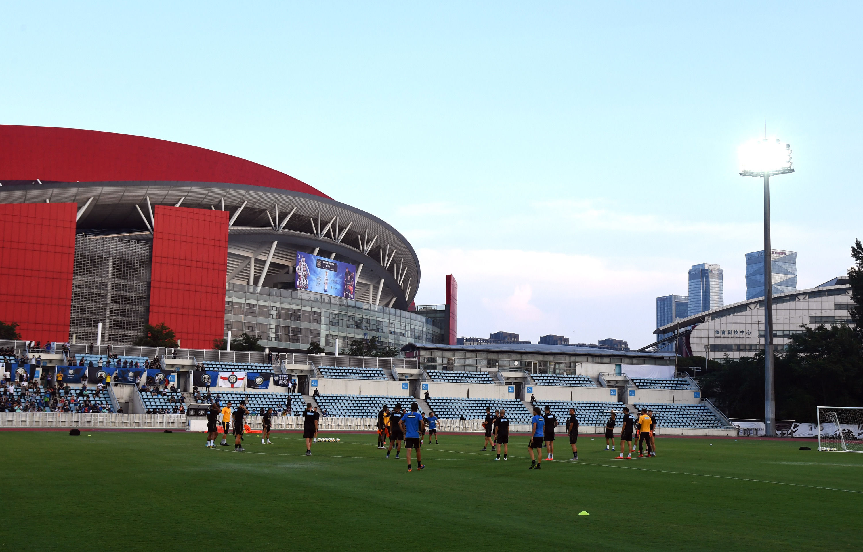 ICC:インテル対ユヴェントス戦に向け、南京市で最後のトレーニング