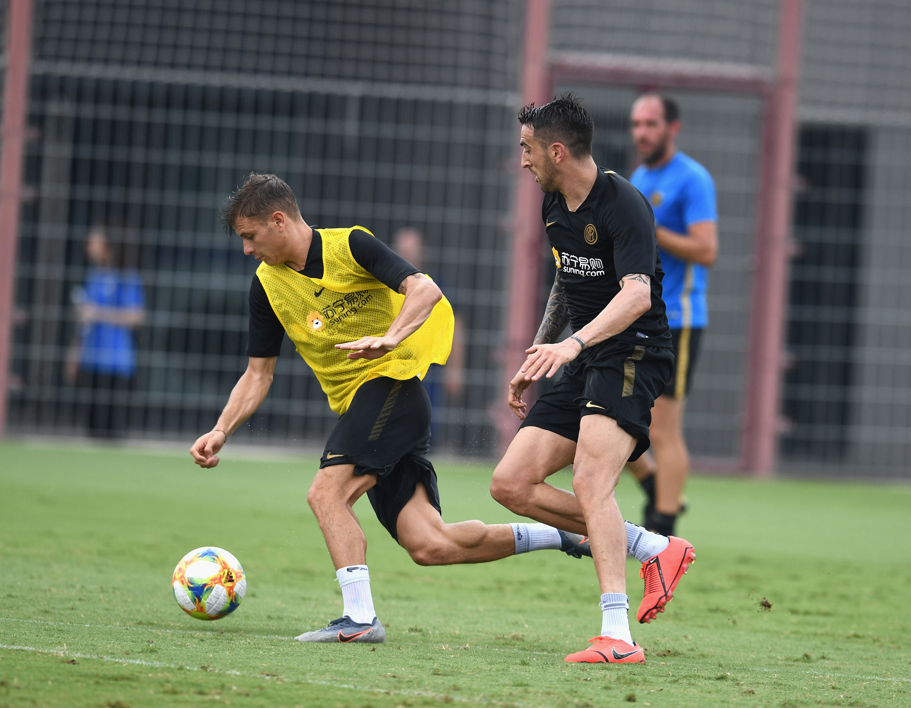 The team straight back to work in Nanjing