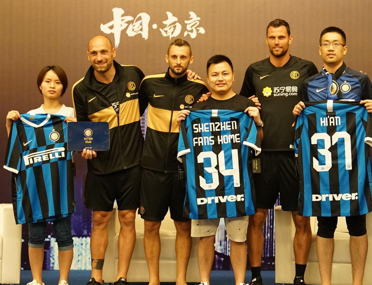 布罗佐维奇,帕代利以及贝尔尼与中国国米球迷俱乐部会面