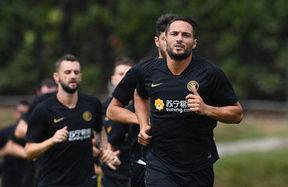 Team get back to work at the Suning Training Centre