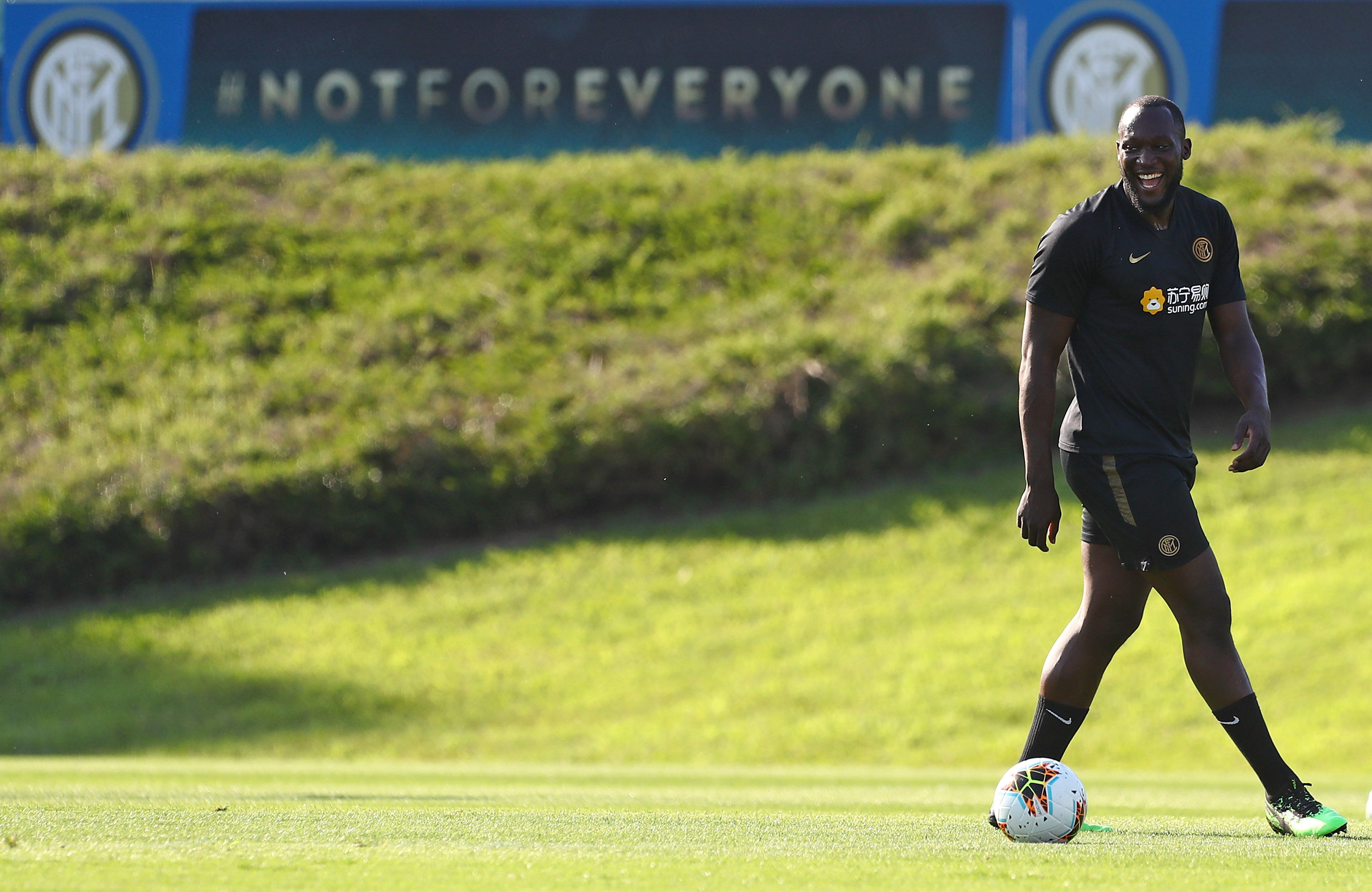 Romelu Lukaku at Inter, the first photos