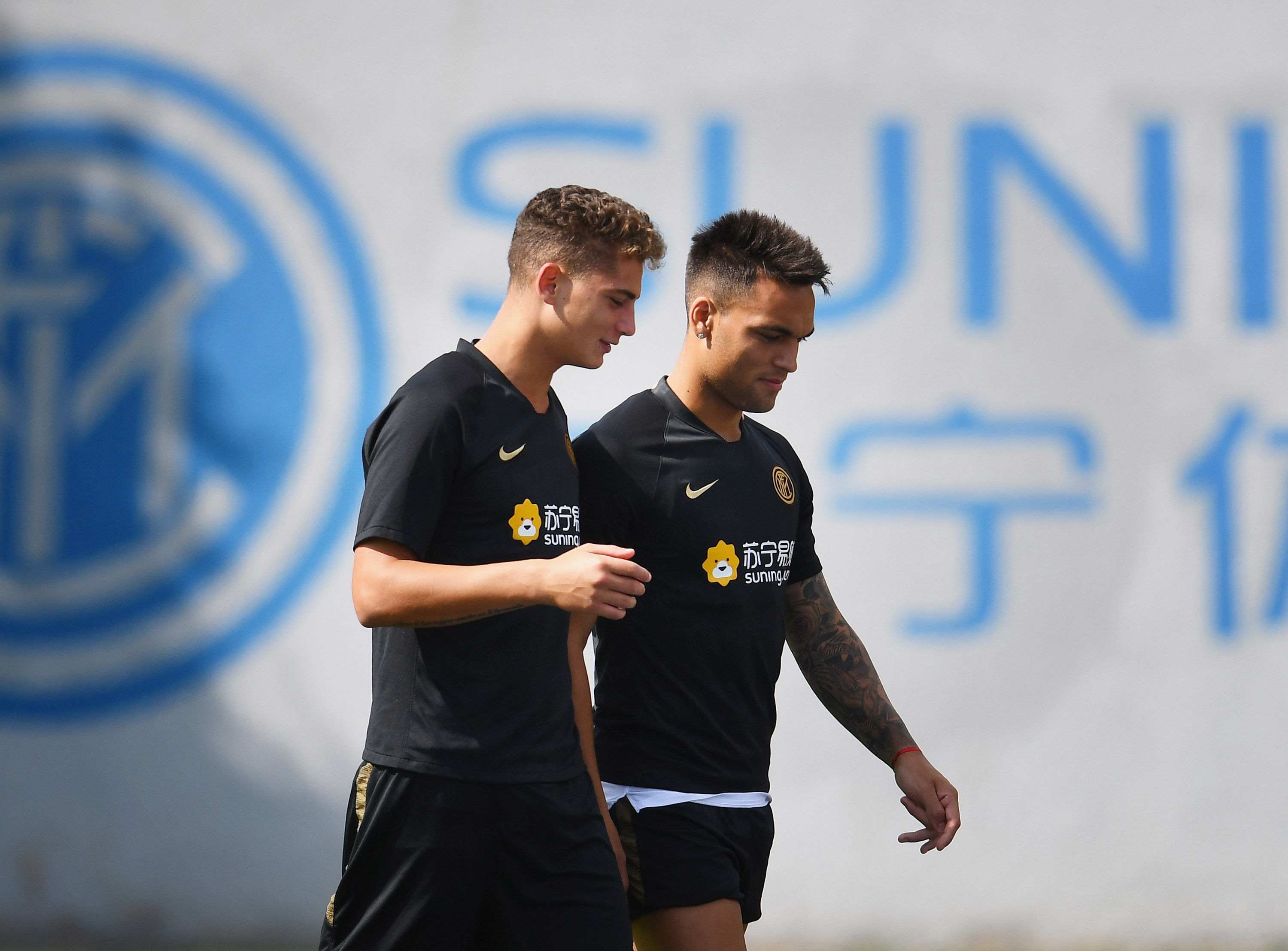The team hard at work at the Suning Training Centre