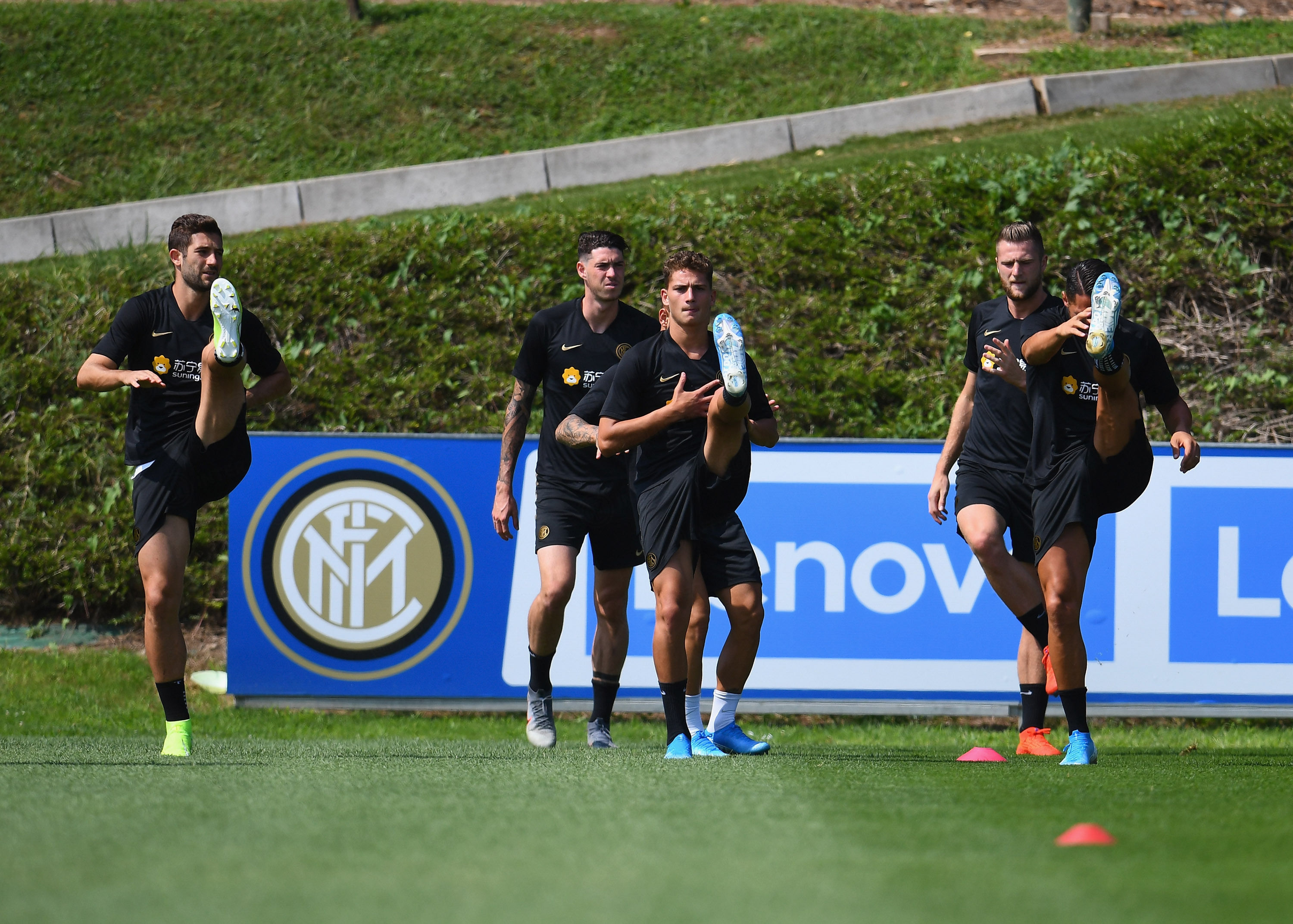 The team hard at work ahead of Inter vs. Lecce
