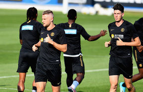 Training the day before Inter vs. Lecce