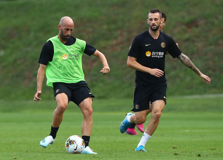 Sesi latihan sore di Suning Training Centre jelang Cagliari vs. Inter